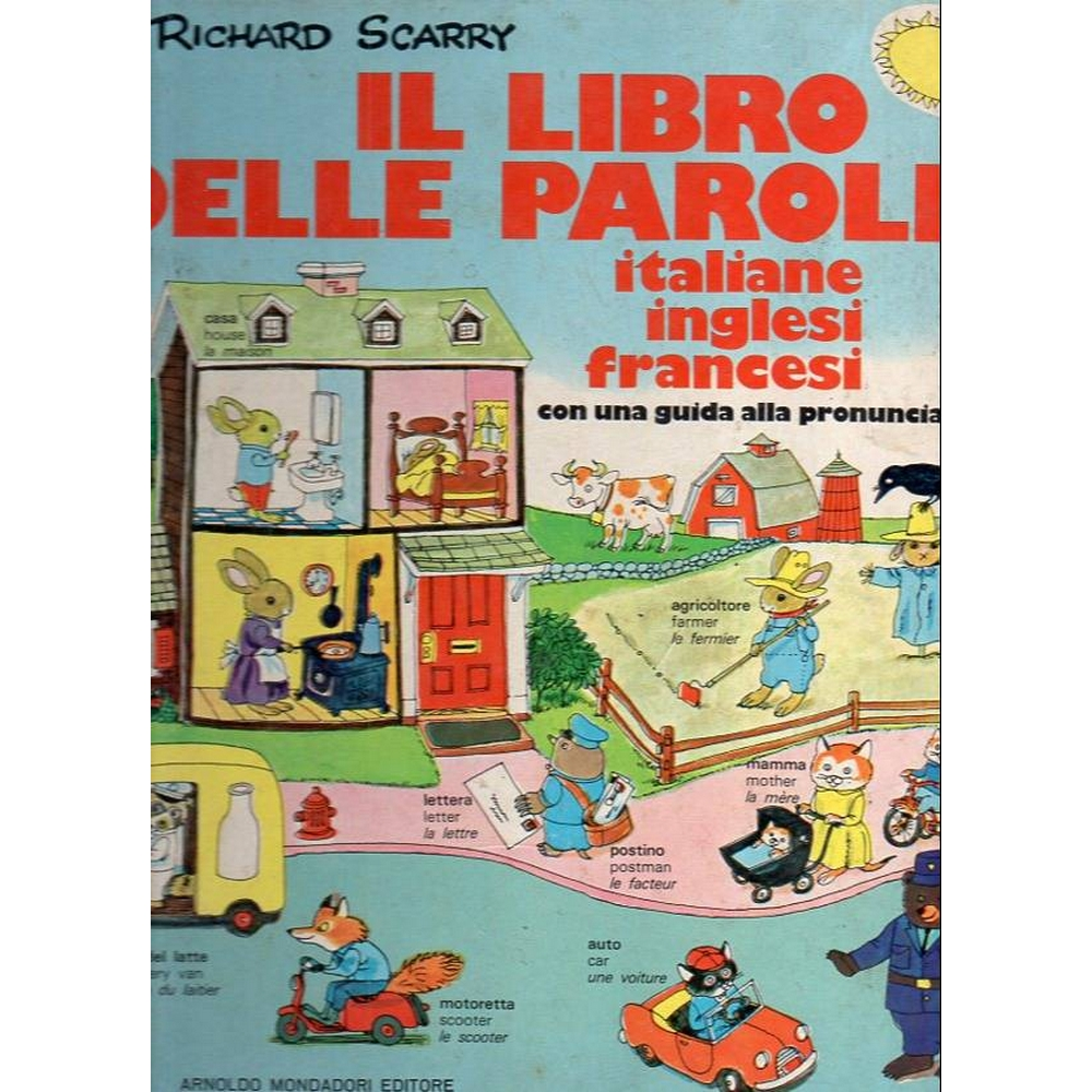 Preview of the first image of Richard Scarry Il Libro Delle Parole (Italian language text).