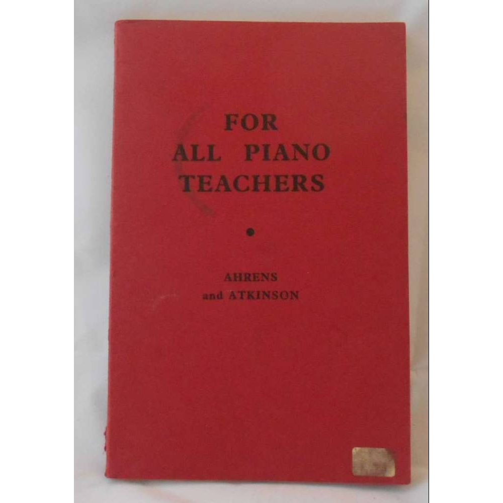 Preview of the first image of For all Piano Teachers..