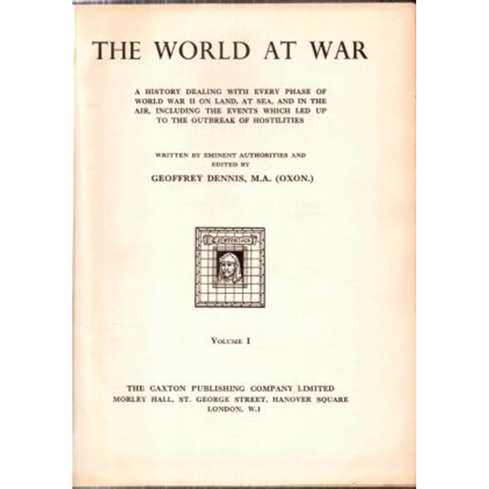 Preview of the first image of The World at War vol I.
