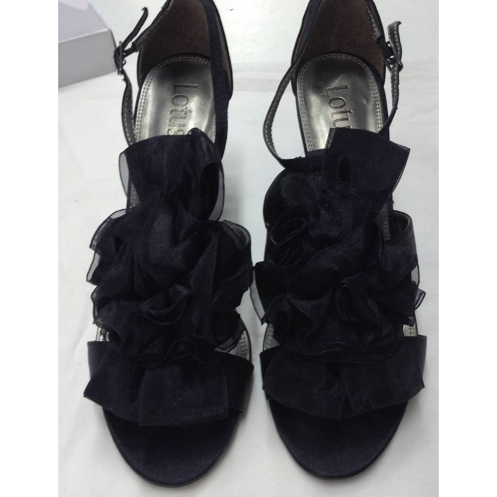 Preview of the first image of Lotus heels black Size: 6.