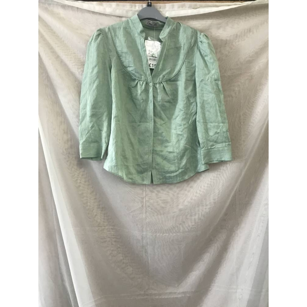 Preview of the first image of Cherokee shirt light green Size: 8.