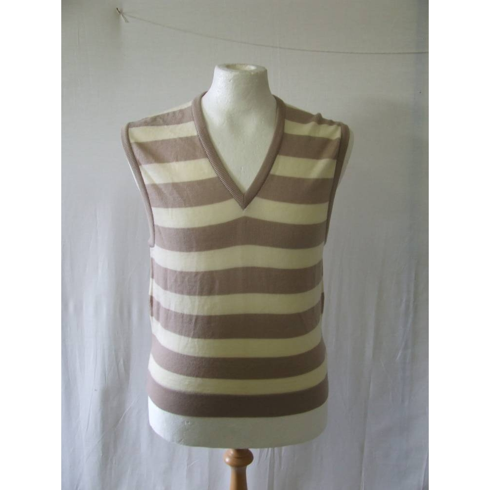 Bnwt Jaeger Wool Sweater Vest V Neck Thin Knit Jumper Cream Beige Size M For Sale In Liverpool Merseyside Preloved