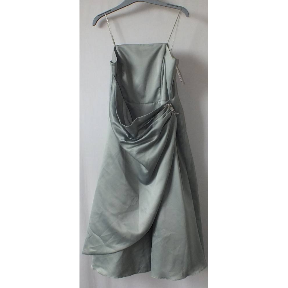 Preview of the first image of BHS Evening Dress Green Size: 14.