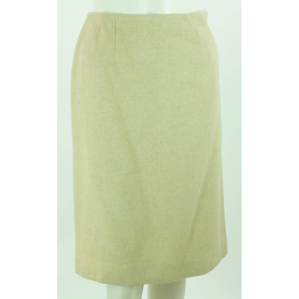 Preview of the first image of Jaeger straight cut skirt honey Size: 8.