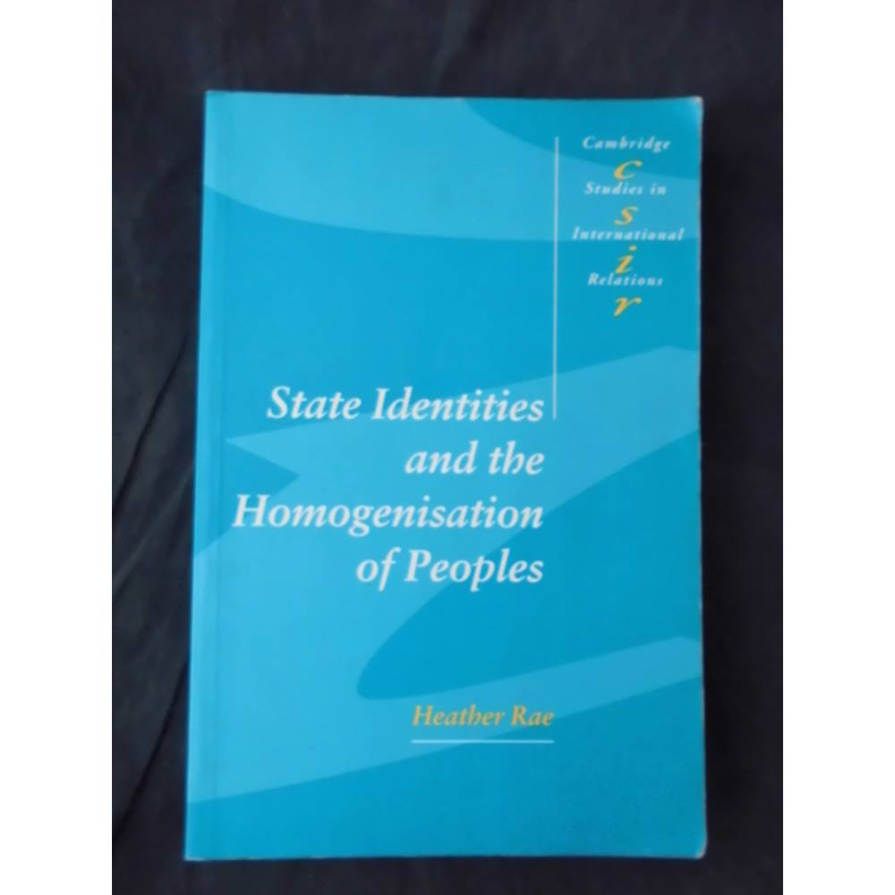 Preview of the first image of State Identities and the Homogenisation of Peoples - 1st Edition.