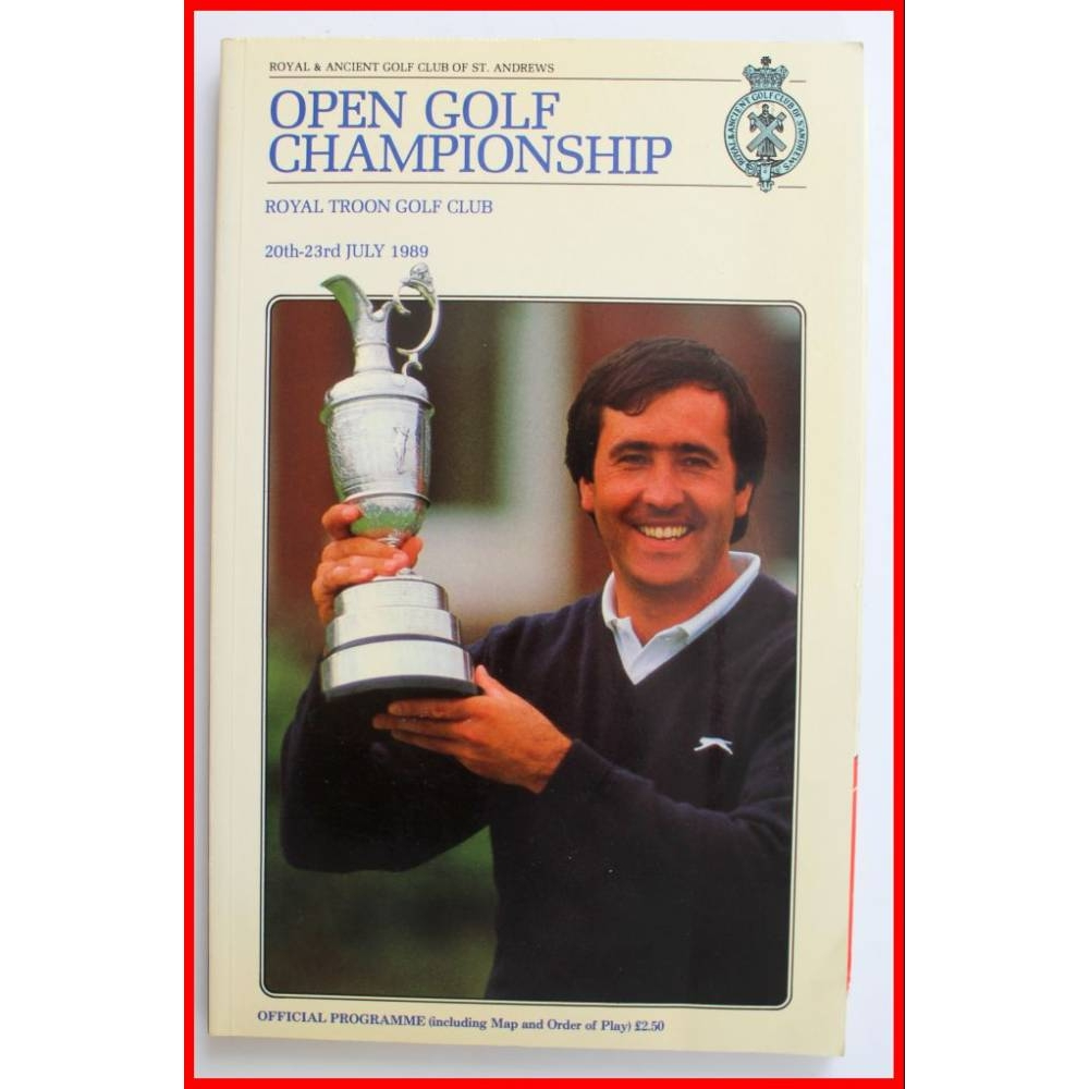 Preview of the first image of Open Golf 1989, official programme.