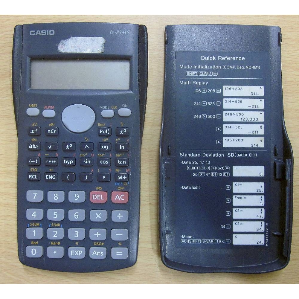 Preview of the first image of CASIO fx-83MS scientific calculator c/w case.