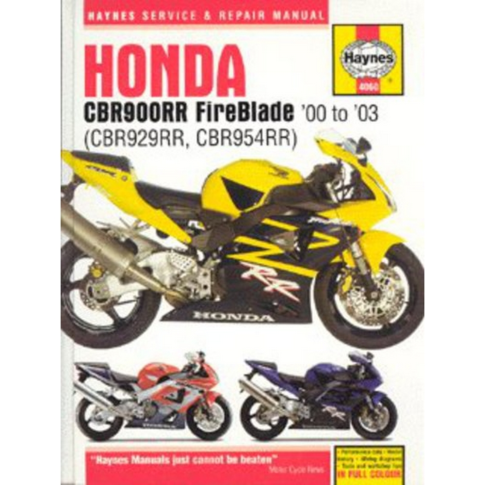 Preview of the first image of New - Honda CBR900RR FireBlade (CBR929RR, CBR954RR) service and repair manual.