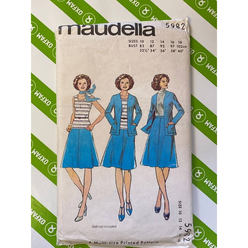 Preview of the first image of Maudella 5982 Jacket, Top and Skirt sizes 10 - 18.
