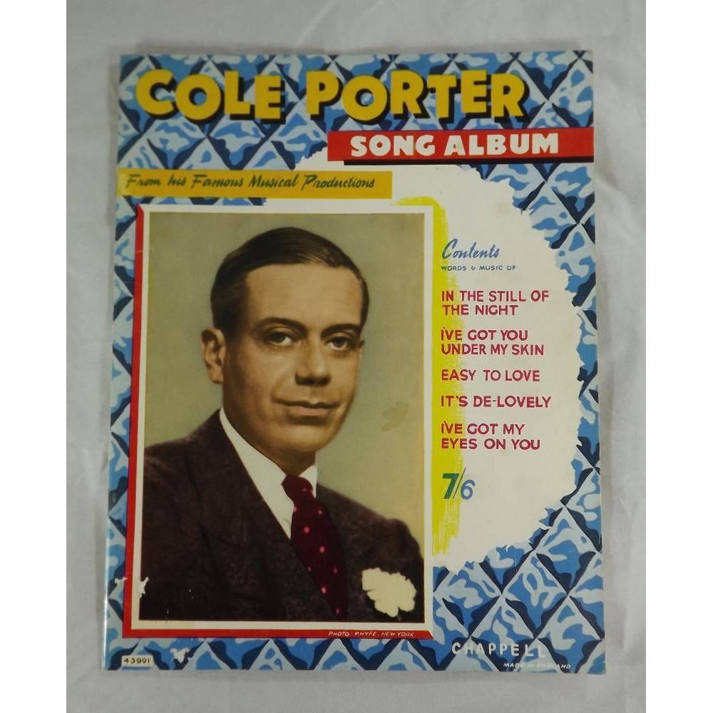 Preview of the first image of Cole Porter Song Album - From his Famous Musical Productions.