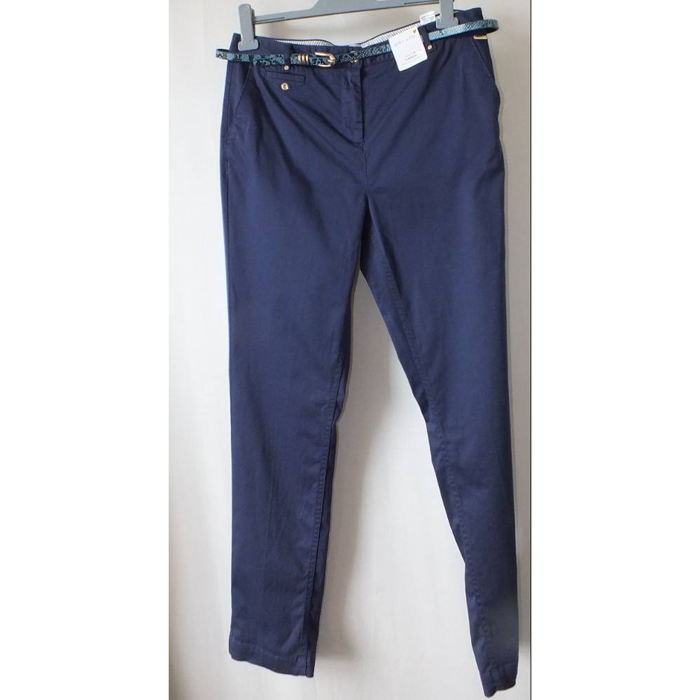 """Preview of the first image of Per Una Size 14 Chinos Blue Size: 32""""."""