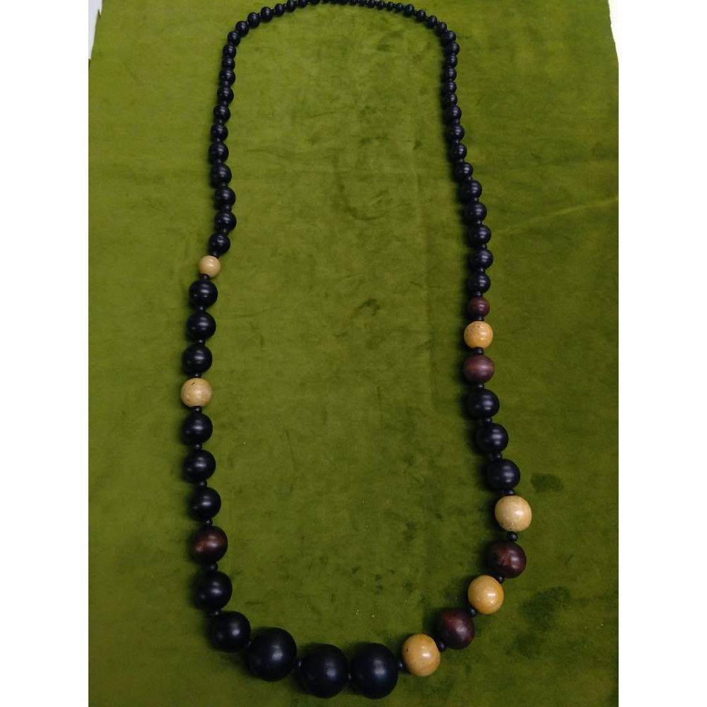 Preview of the first image of Wooden Statement Necklace.