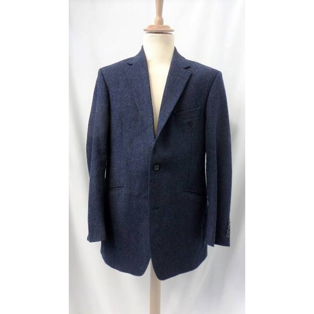 Preview of the first image of Austin Reed Tweed Jacket Blue Size: M.