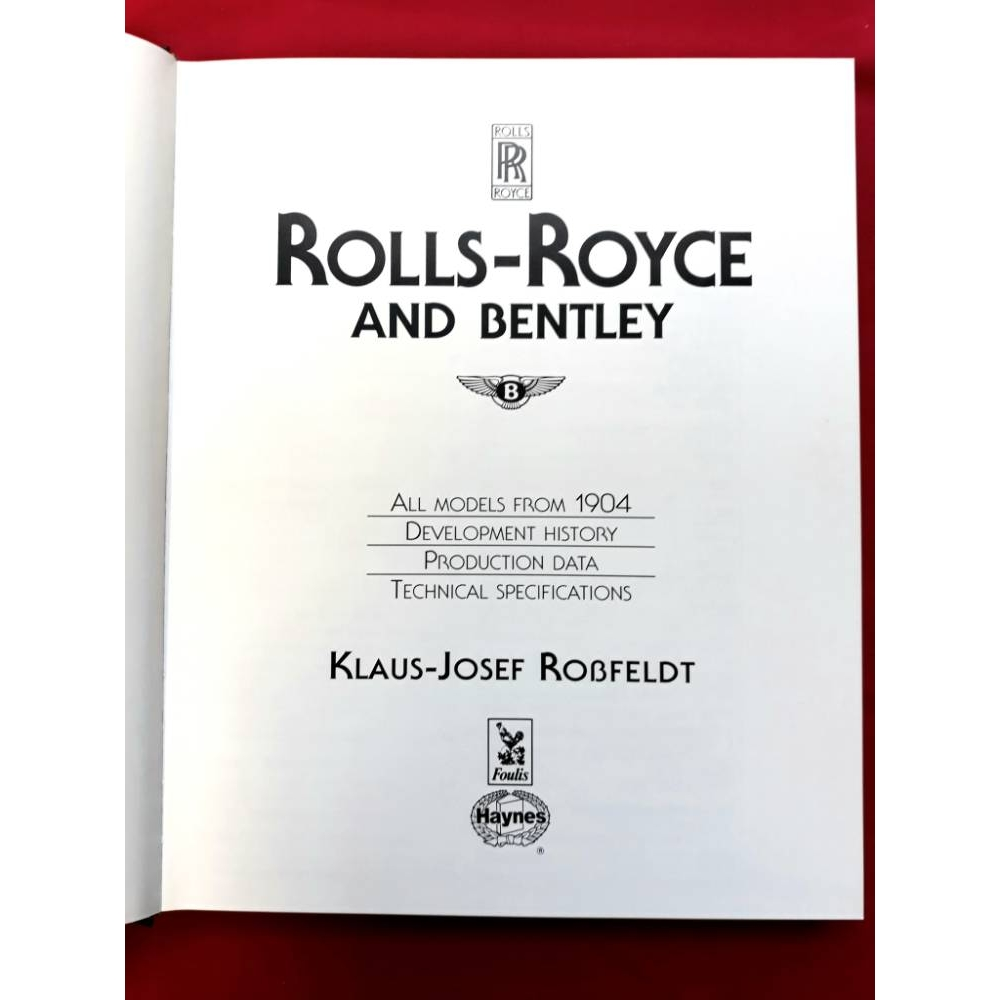Preview of the first image of Rolls Royce and Bentley; all models from 1904 by Klaus-Josef Robfeldt.