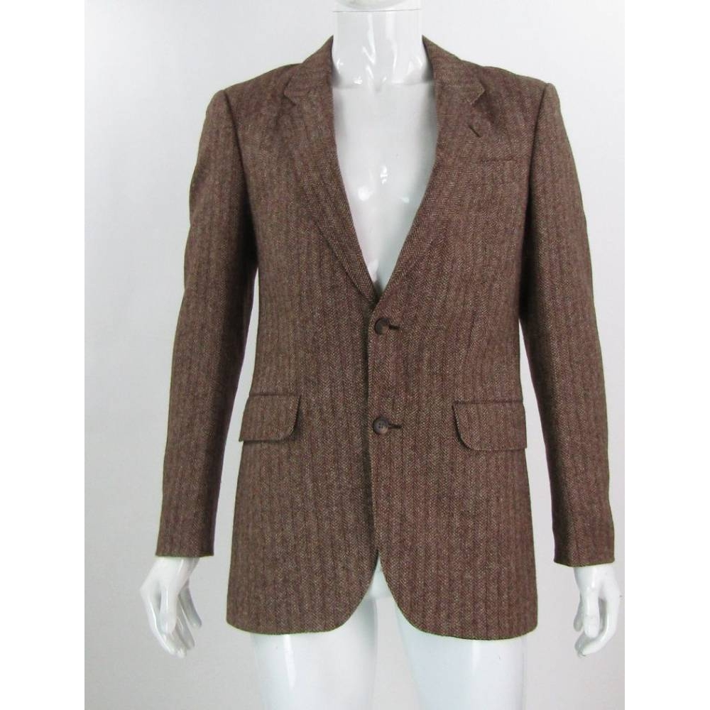 Webmore For Austin Reed 38 Wool Tweed Jacket Brown Cream Size M For Sale In Darlington County Durham Preloved