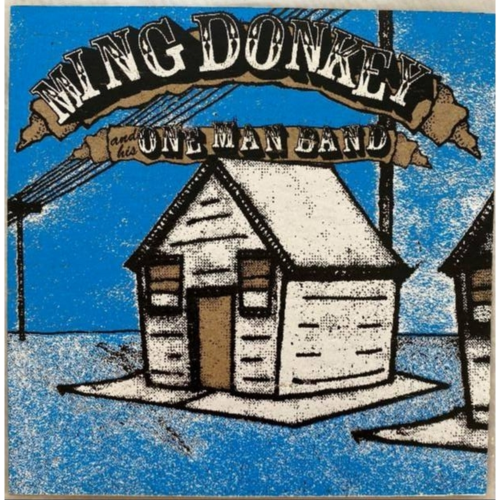 """Preview of the first image of Ming Donkey & His One Man Band - Waiting on the Georgia Line - 7"""" Vinyl."""