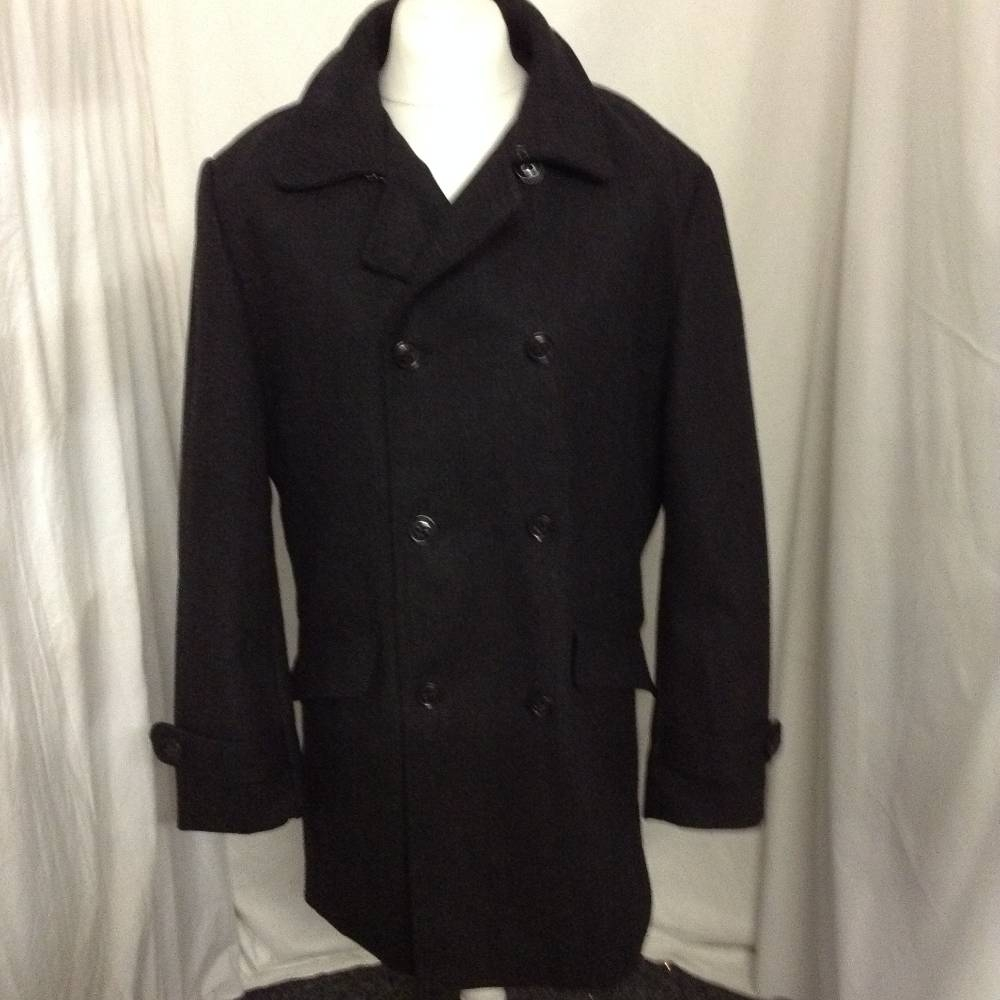 Preview of the first image of Cedarwood State Coat Black Size: XL.