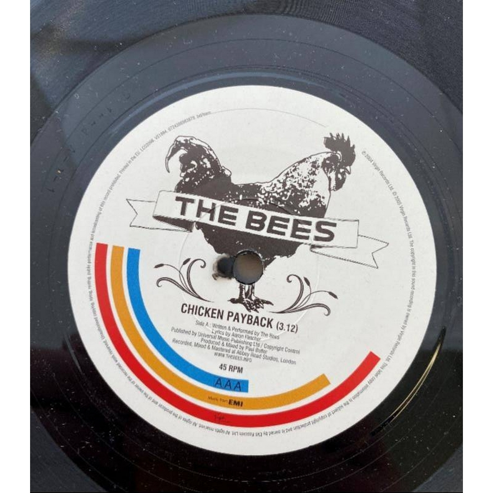 "Preview of the first image of The Bees - Chicken Payback  7"" Vinyl."