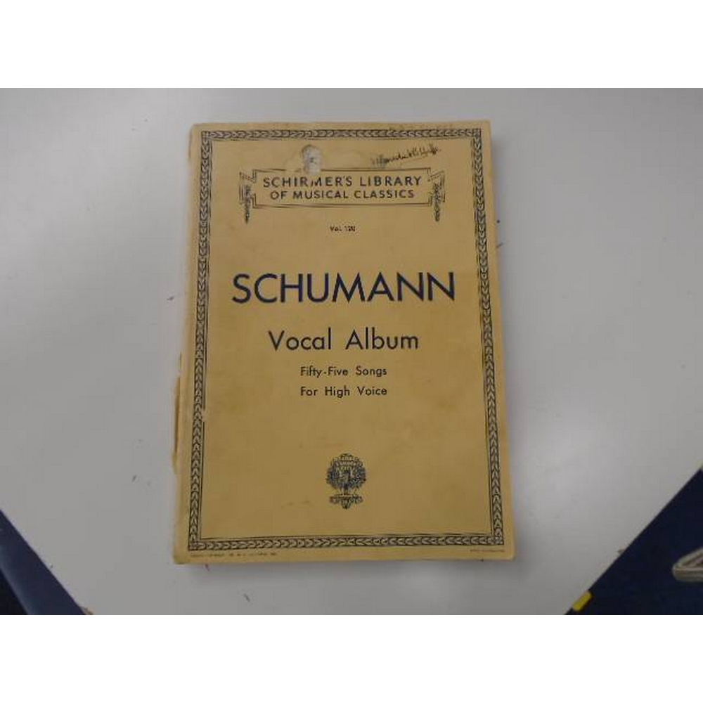 Preview of the first image of Schumann- Vocal Album  Fifty-Five Song for High Voice.