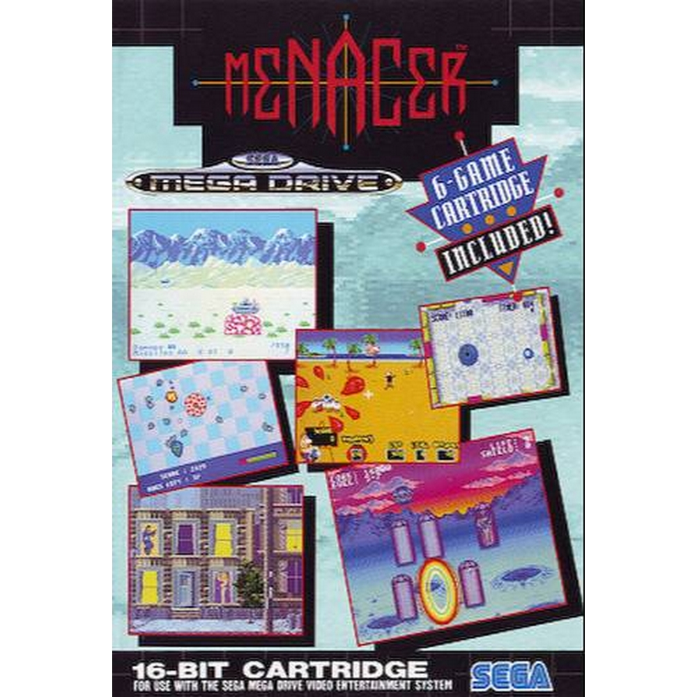 Preview of the first image of Sega Mega Drive - Menacer 6-Game Cartridge.