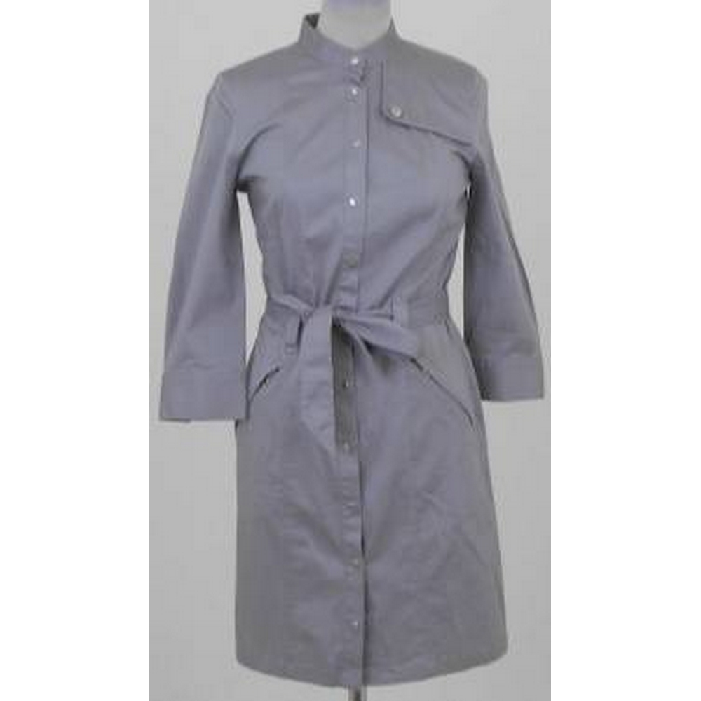 Preview of the first image of Armani Exchange Belted Jacket Dress Grey Size: M.