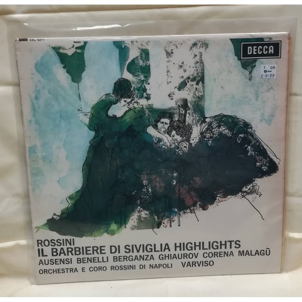 Preview of the first image of Rossini ?– Il Barbiere Di Siviglia - Highlights Vinyl in EXCELLENT Condition.