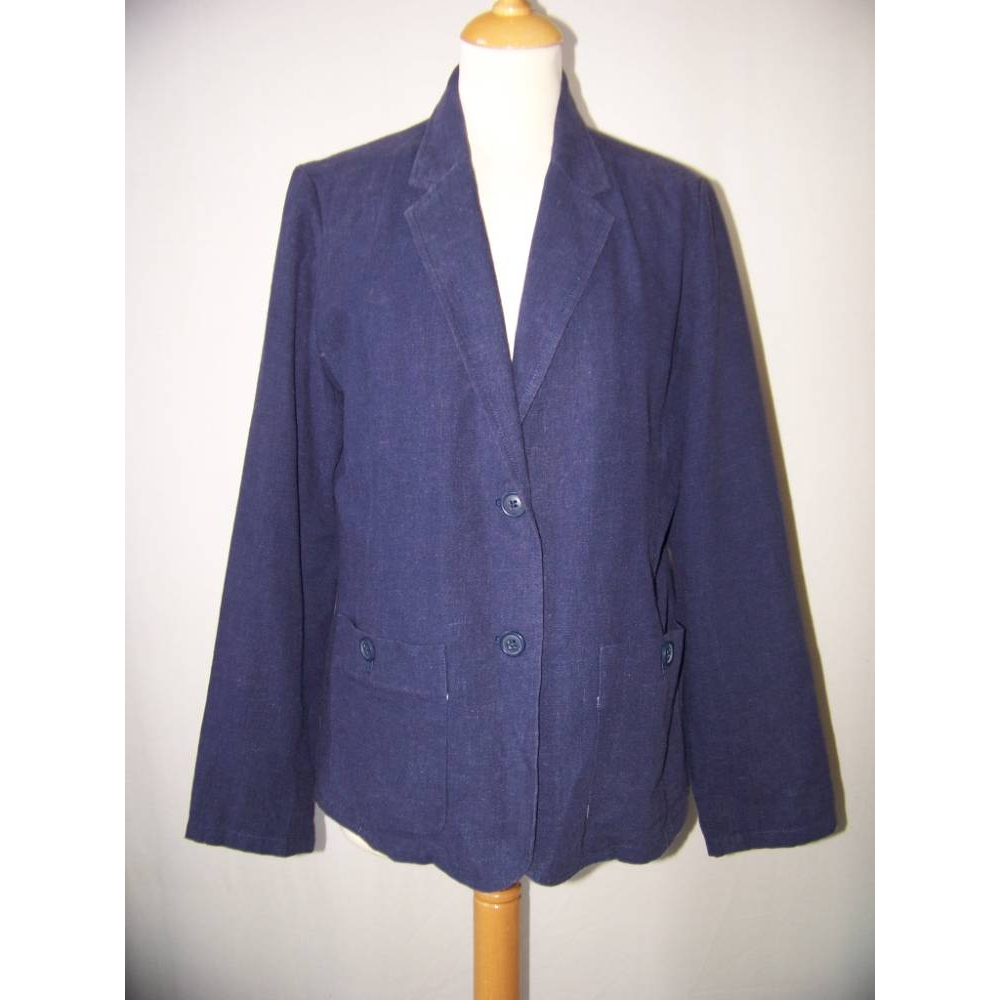 Preview of the first image of Rohan Blazor Jacket Navy Blue Size: 14.