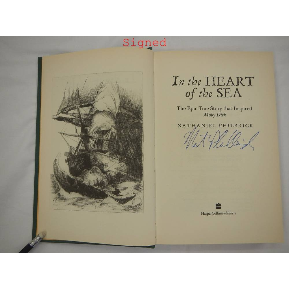 Preview of the first image of In the heart of the sea Hardback, Signed.
