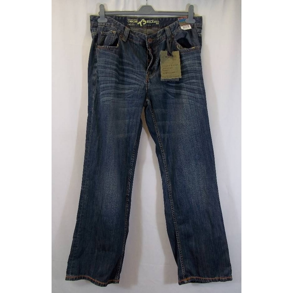 """Preview of the first image of Cherokee Man's Jeans blue Size: 38""""."""