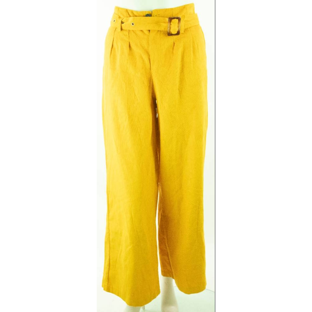 """Preview of the first image of MRP Project cotton trousers saffron Size: 25""""."""