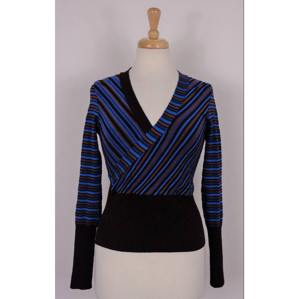 Preview of the first image of Karen Millen Jumper Striped Size: XS.