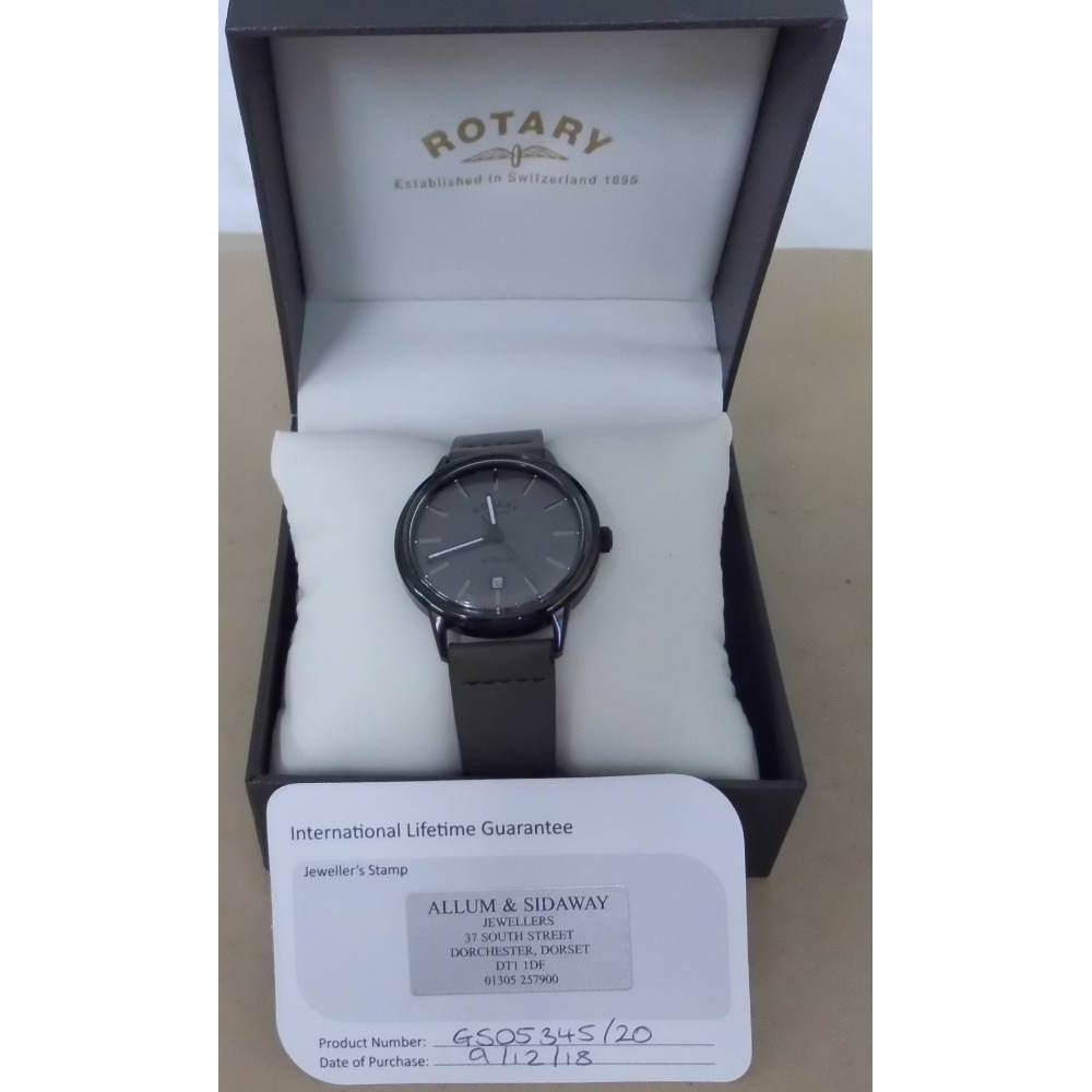 Preview of the first image of BNWOT Rotary Avenger GS0534520 With Quartz Movement Watch Grey Size: L.