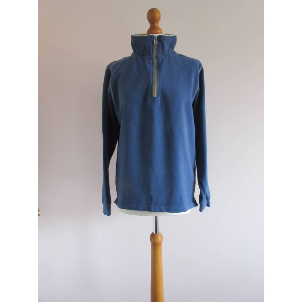 Image 1 of Lazy Jacks Half Zip Sweatshirt Blue Size: S
