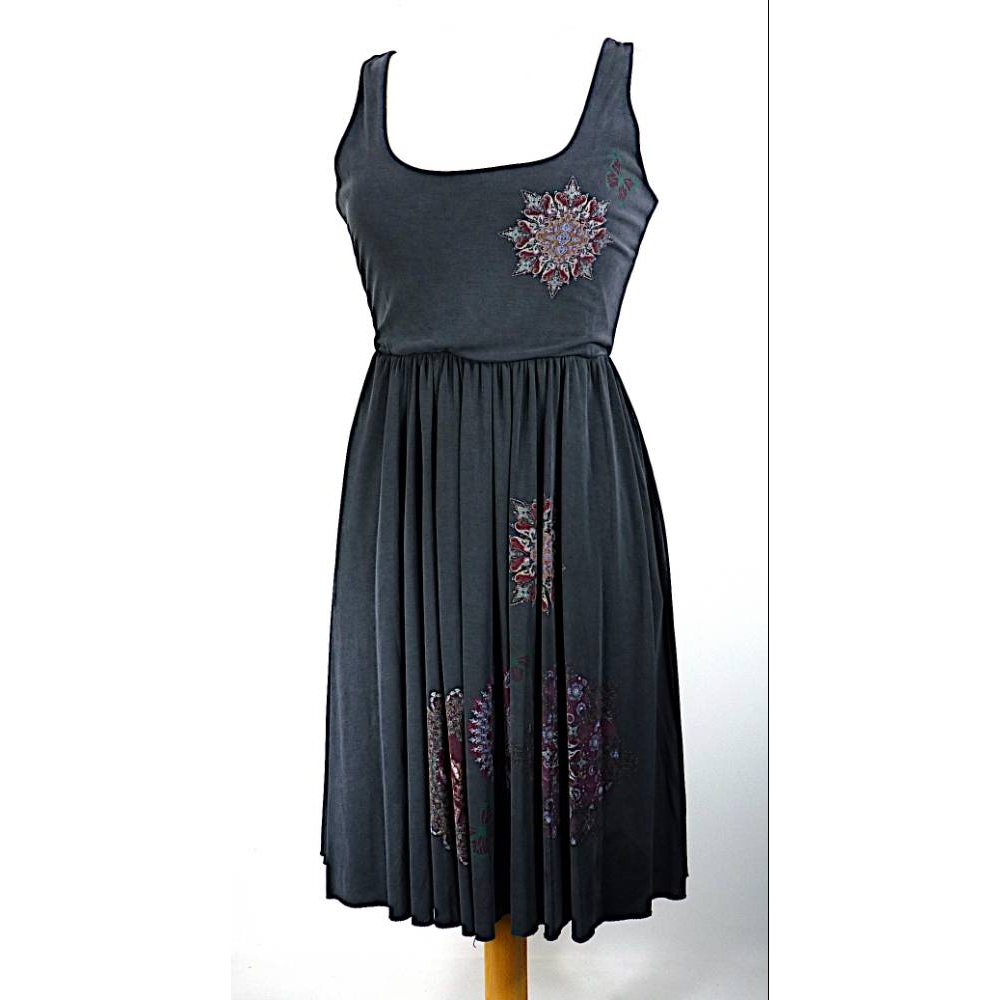 Preview of the first image of Desigual Ladies' Sleeveless Dress Charcoal Mix Size: S.