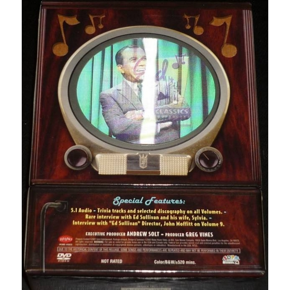 Preview of the first image of Ed Sullivan's Rock N Roll Classics, 9 DVD Rhino Box Set, Region 1,.