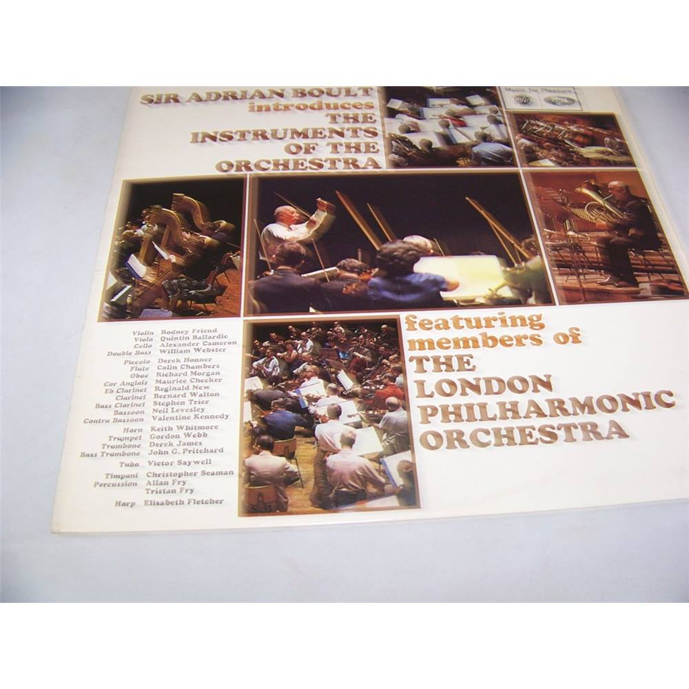 Preview of the first image of Sir Adrian Boult Introduces The Instruments Of The Orchestra - mfp 2092 - LP.
