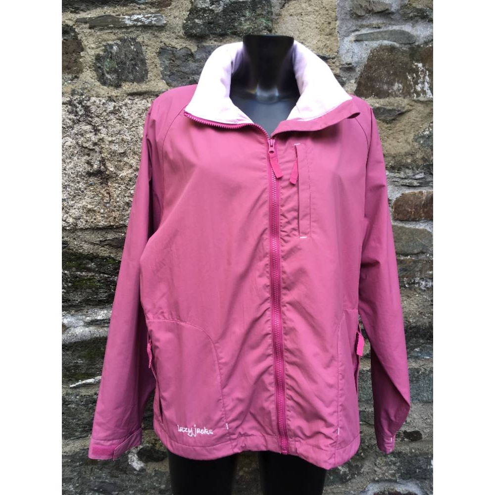 Preview of the first image of Lazy Jacks waterproof jacket Pink Size: L.