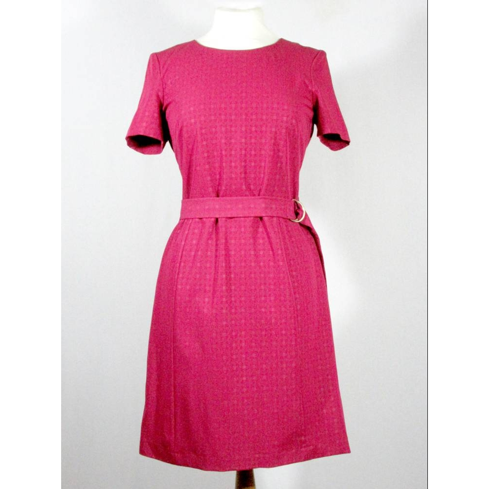 Preview of the first image of Next smart dress with belt Red Size: 10.