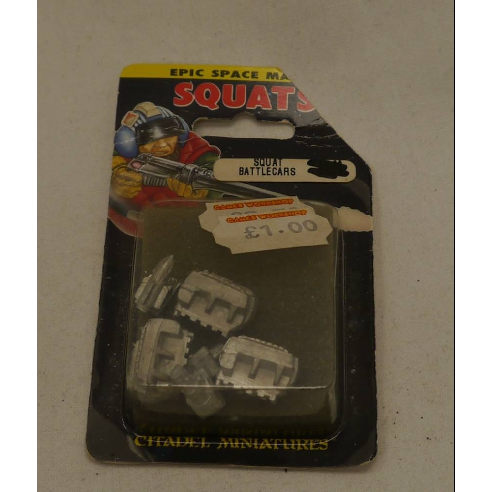 Preview of the first image of 1992 Epic Squat Land Train Battlecars Citadel 6mm 40K Warhammer War Engine MIB.