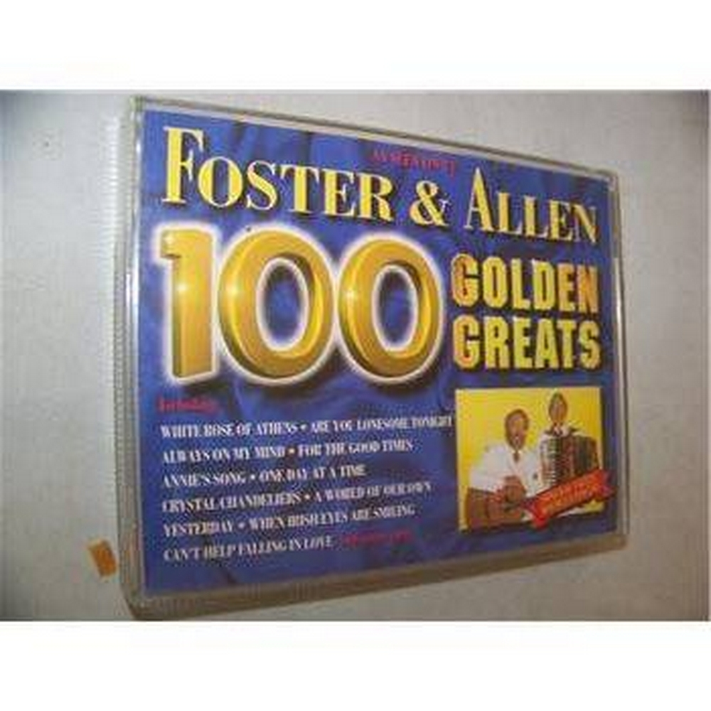 Preview of the first image of 100 Golden Greats (1995) Foster & Allen STAC 2791 Double audio cassette.