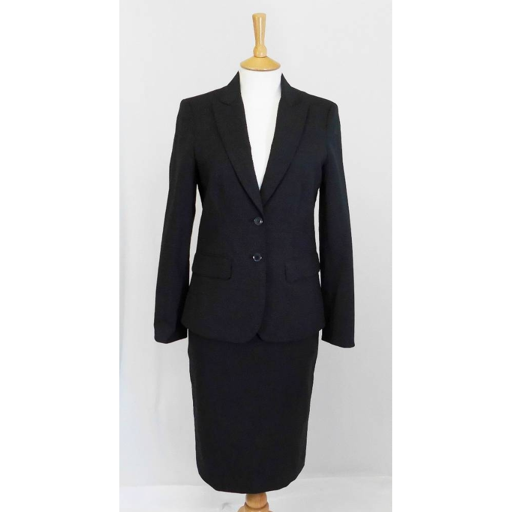 Austin Reed Ladies 2 Piece Suit Black Grey Size 8 For Sale In Bristol Preloved