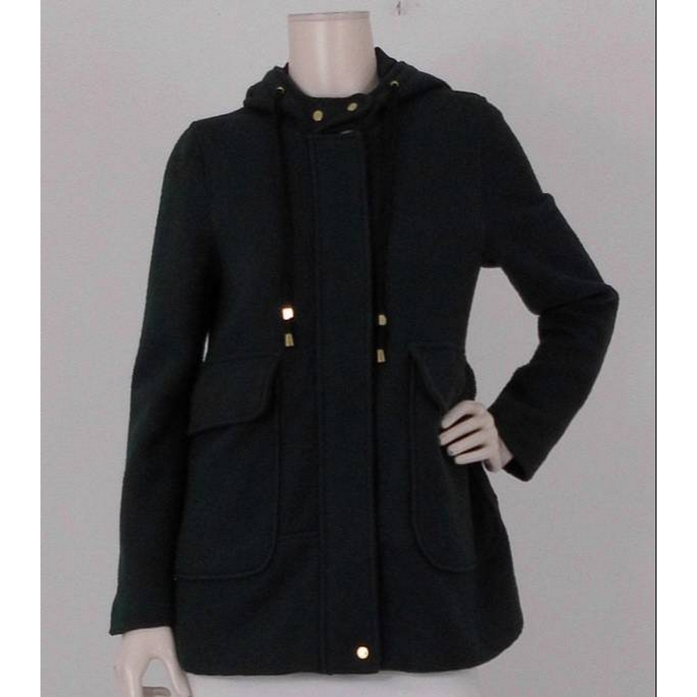Preview of the first image of Zara Hooded Coat Green Size: M.