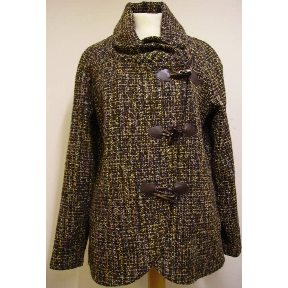 Preview of the first image of Joe Browns Tweed Jacket Brown/Black Size: 12.