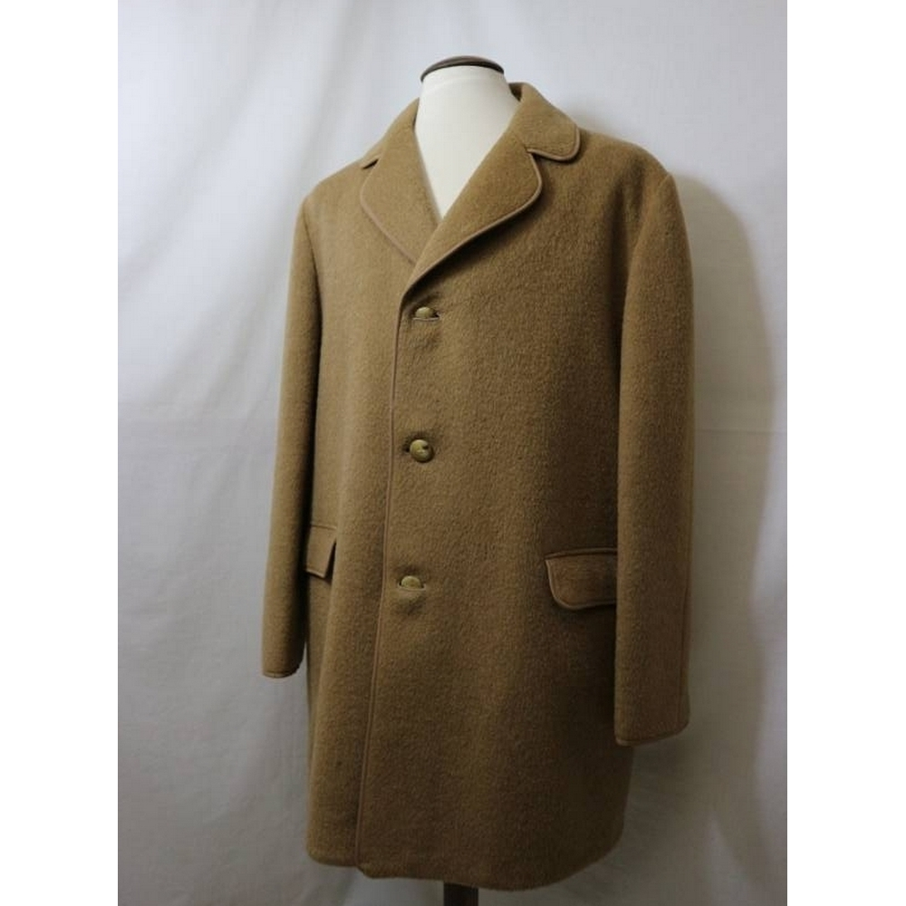 Preview of the first image of Gannex Vintage Mohair Coat Tan Size: XL.