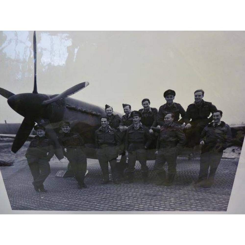 Preview of the first image of Reproduction print of WW II aircrew.