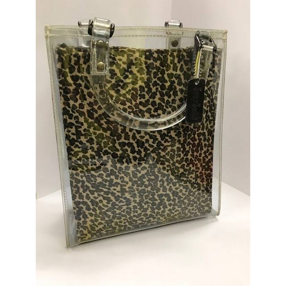 Preview of the first image of Suzy Smith Leopard Print Bag Brown Mix Size: One size.