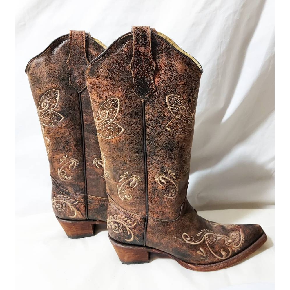 Image 1 of Circle G Handcrafted Cowboy Boots Brown Size: 5