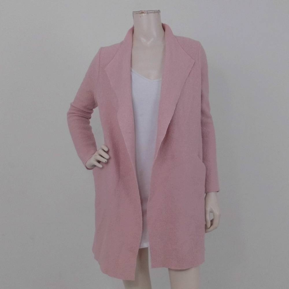 Preview of the first image of RJR John Rocha Wool Blend Longline Coat Blush Pink Size: S.