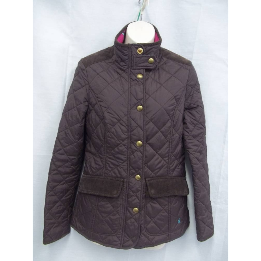 Preview of the first image of Joules Ladies' Quilted Jacket Brown Size: 8.