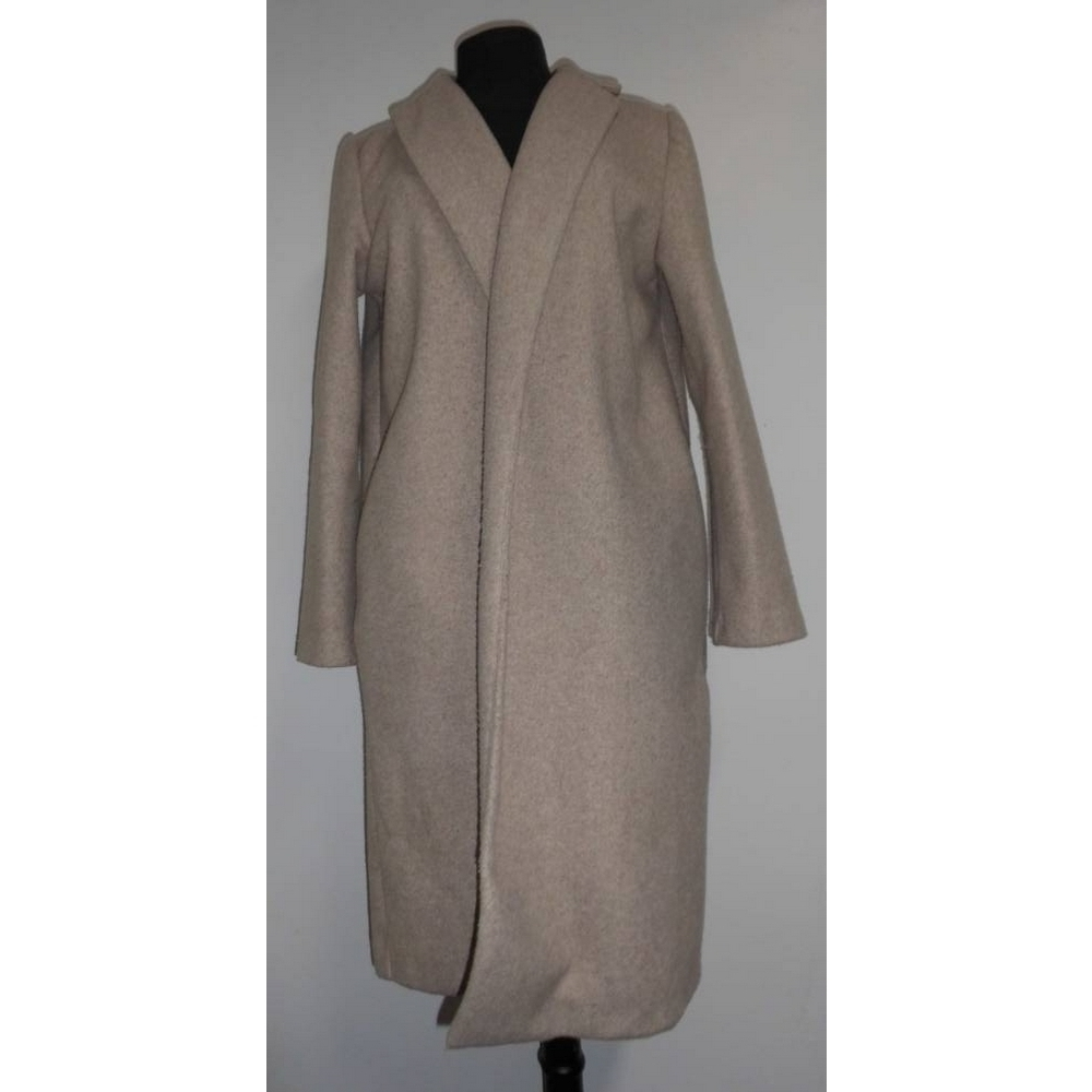 Image 1 of Zara Fasten-Free Coat Grey Size: L
